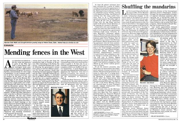 Article Preview: Mending fences in the West, August 1985 | Maclean's