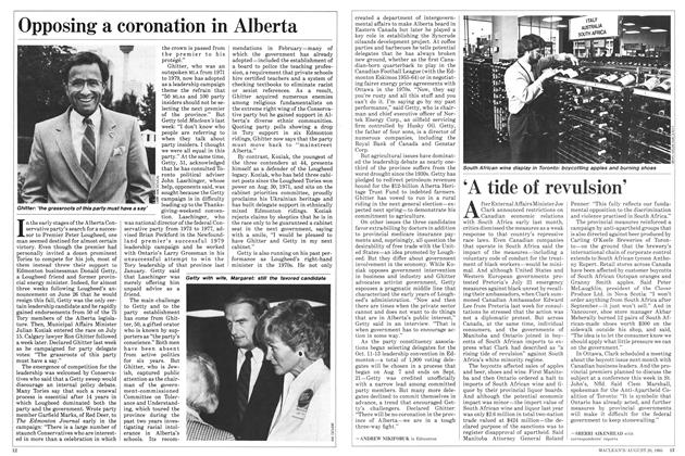 Article Preview: Opposing a coronation in Alberta, August 1985 | Maclean's