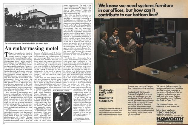 Article Preview: An embarrassing motel, August 1985 | Maclean's