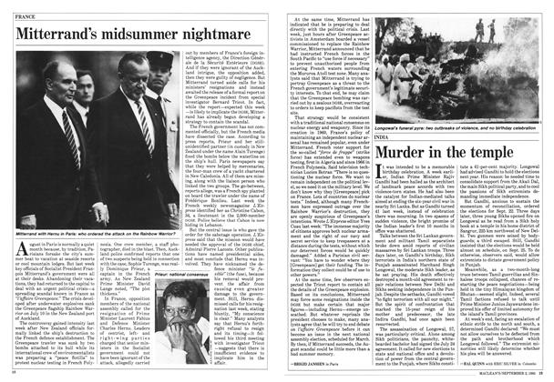Article Preview: Mitterrand's midsummer nightmare, September 1985 | Maclean's
