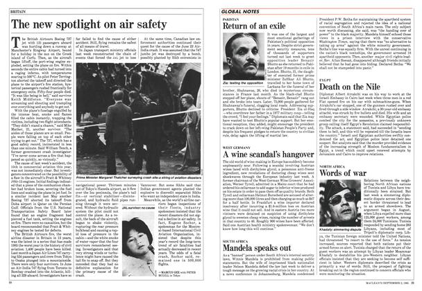 Article Preview: The new spotlight on air safety, September 1985 | Maclean's