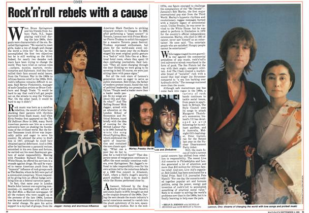 Article Preview: Rock'n'roll rebels with a cause, September 1985 | Maclean's
