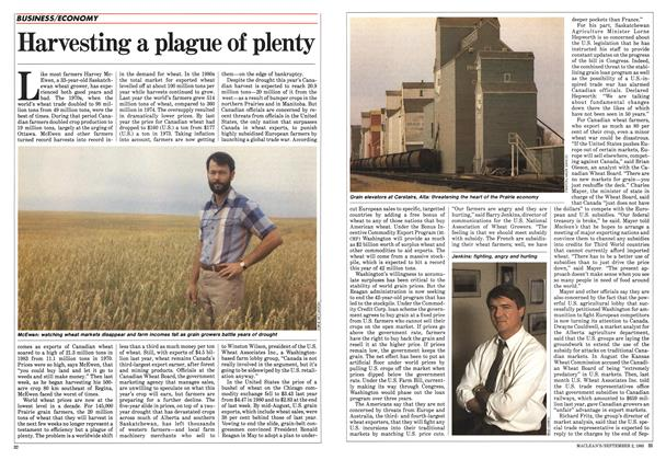 Article Preview: Harvesting a plague of plenty, September 1985 | Maclean's