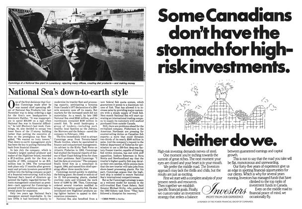 Article Preview: National Sea's down-to-earth style, September 1985 | Maclean's