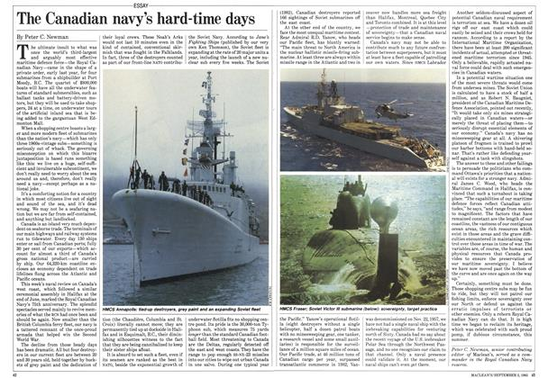 Article Preview: The Canadian navy's hard-time days, September 1985 | Maclean's