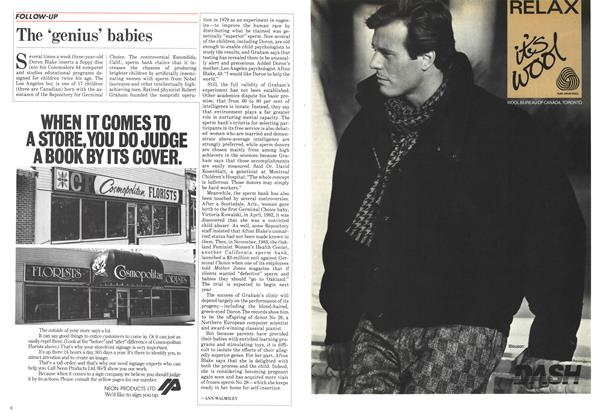 Article Preview: The 'genius' babies, September 1985 | Maclean's