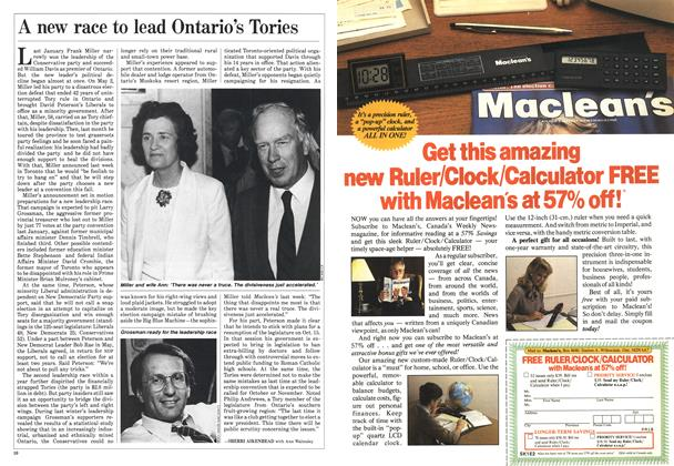 Article Preview: A new race to lead Ontario's Tories, September 1985 | Maclean's