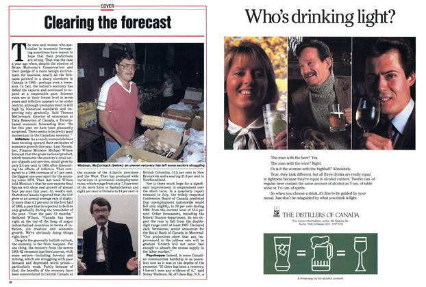 Article Preview: Clearing the forecast, September 1985 | Maclean's