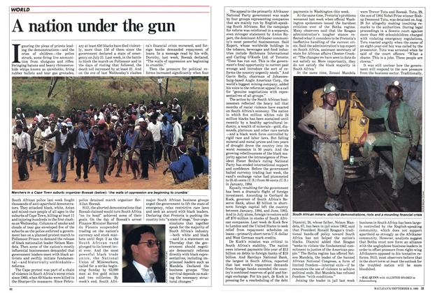 Article Preview: A nation under the gun, September 1985 | Maclean's