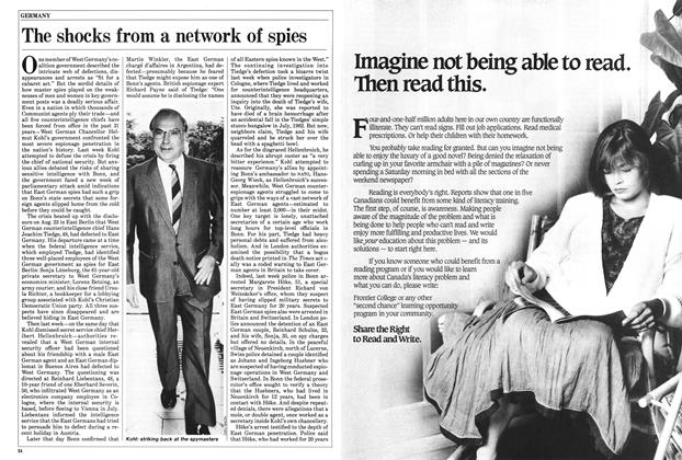 Article Preview: The shocks from a network of spies, September 1985 | Maclean's