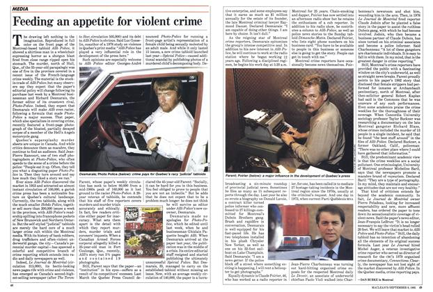 Article Preview: Feeding an appetite for violent crime, September 1985 | Maclean's