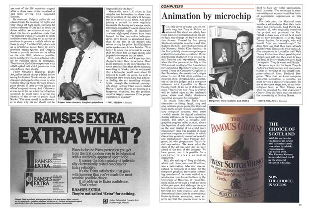Article Preview: Animation by microchip, September 1985 | Maclean's