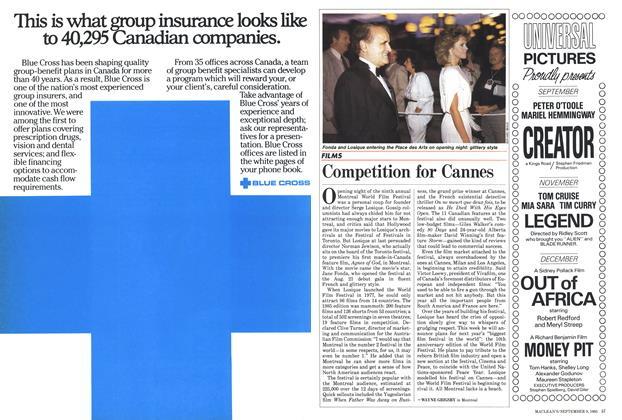 Article Preview: Competition for Cannes, September 1985 | Maclean's