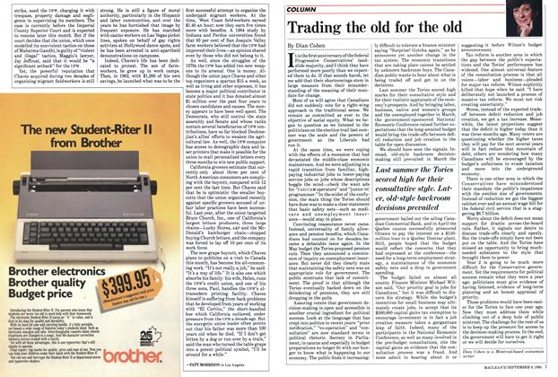 Article Preview: Trading the old for the old, September 1985 | Maclean's