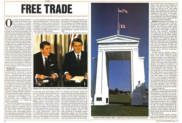 Article Preview: FREE TRADE, September 1985 | Maclean's
