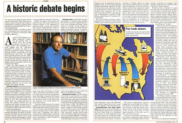 Article Preview: A historic debate begins, September 1985 | Maclean's
