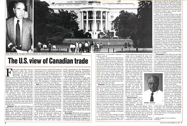 Article Preview: The U.S. view of Canadian trade, September 1985 | Maclean's