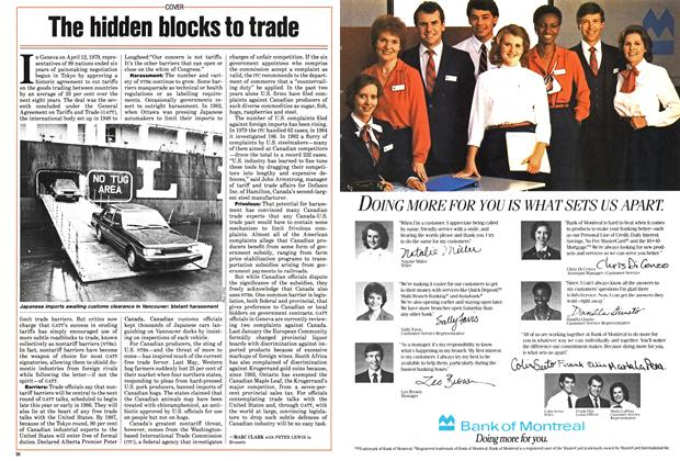 Article Preview: The hidden blocks to trade, September 1985 | Maclean's