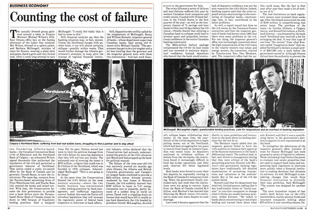 Article Preview: Counting the cost of failure, September 1985 | Maclean's