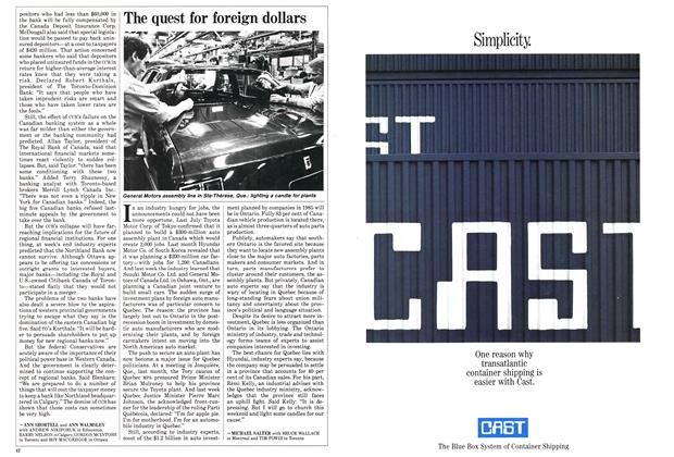 Article Preview: The quest for foreign dollars, September 1985 | Maclean's