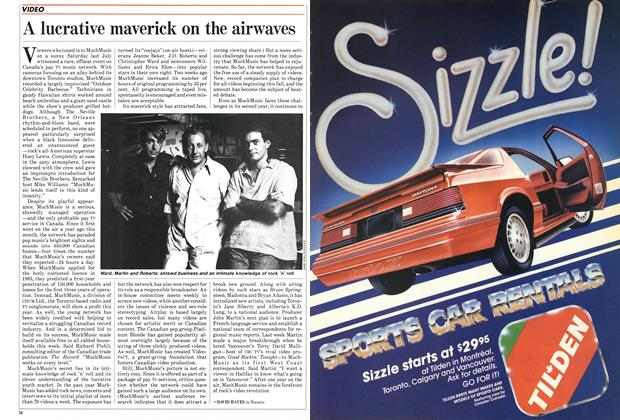 Article Preview: A lucrative maverick on the airwaves, September 1985 | Maclean's