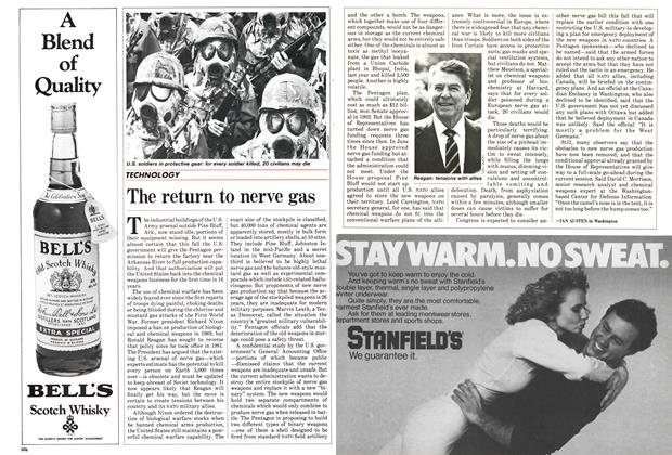 Article Preview: The return to nerve gas, September 1985   Maclean's