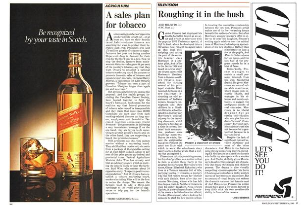 Article Preview: A sales plan for tobacco, September 1985 | Maclean's