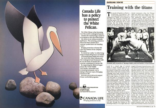 Article Preview: Training with the titans, September 1985 | Maclean's