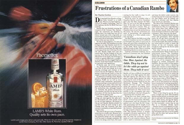 Article Preview: Frustrations of a Canadian Rambo, September 1985 | Maclean's