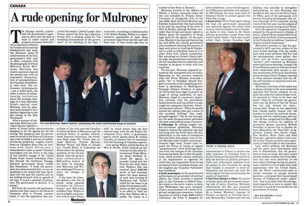 Article Preview: A rude opening for Mulroney, September 1985 | Maclean's
