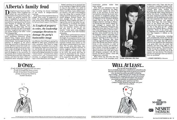 Article Preview: Alberta's family feud, September 1985   Maclean's