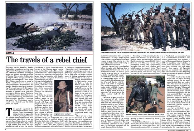 Article Preview: The travels of a rebel chief, September 1985 | Maclean's