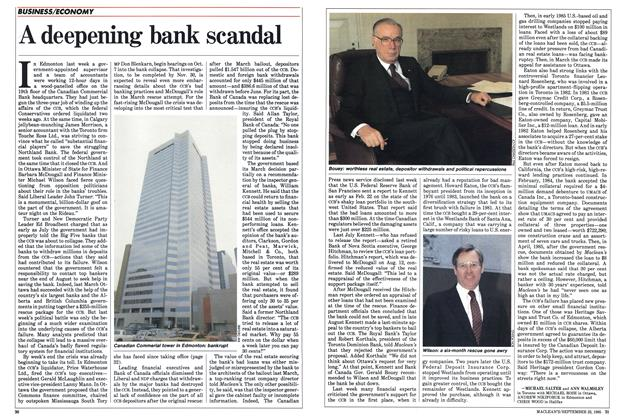 Article Preview: A deepening bank scandal, September 1985 | Maclean's