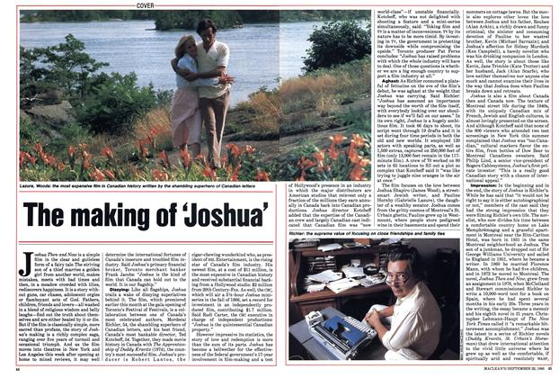 Article Preview: The making of 'Joshua', September 1985 | Maclean's