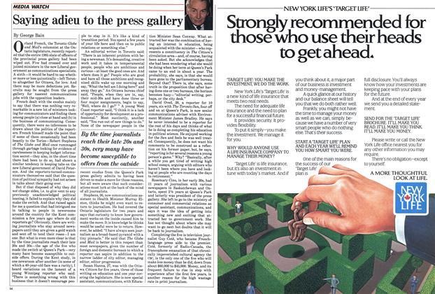 Article Preview: Saying adieu to the press gallery, September 1985 | Maclean's