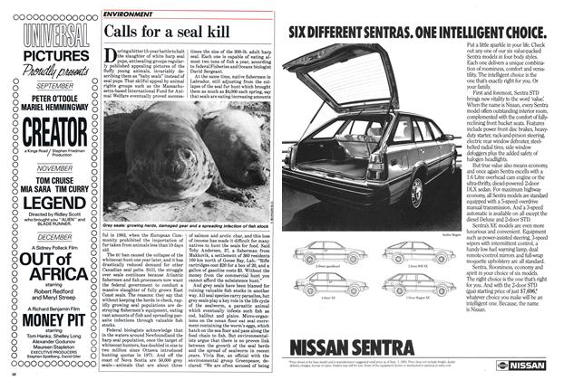 Article Preview: Calls for a seal kill, September 1985 | Maclean's