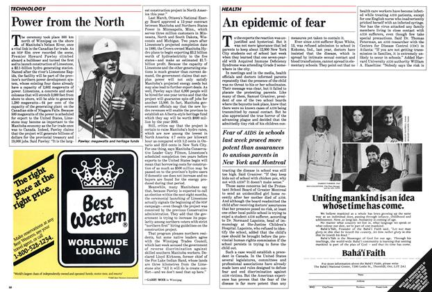 Article Preview: An epidemic of fear, September 1985 | Maclean's