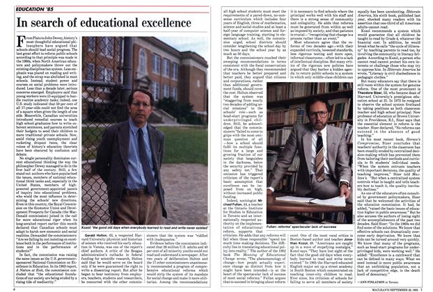 Article Preview: In search of educational excellence, September 1985 | Maclean's