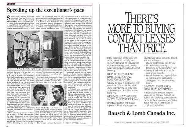 Article Preview: Speeding up the executioner's pace, September 1985 | Maclean's