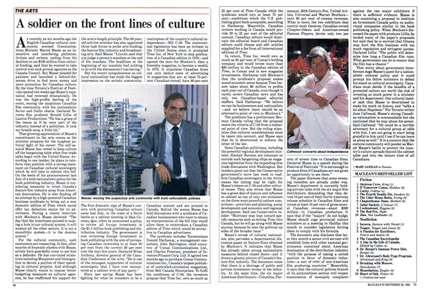 Article Preview: A soldier on the front lines of culture, September 1985 | Maclean's