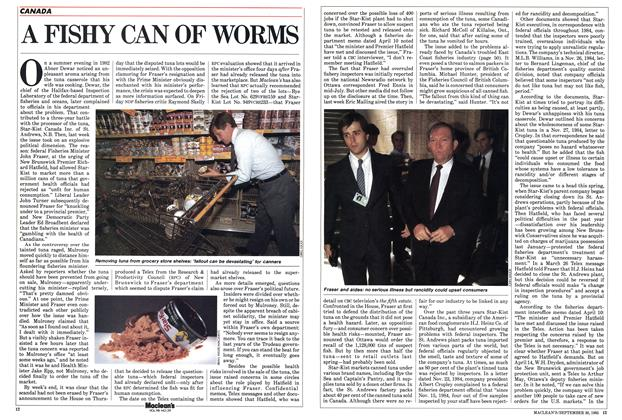 Article Preview: A FISHY CAN OF WORMS, September 1985 | Maclean's