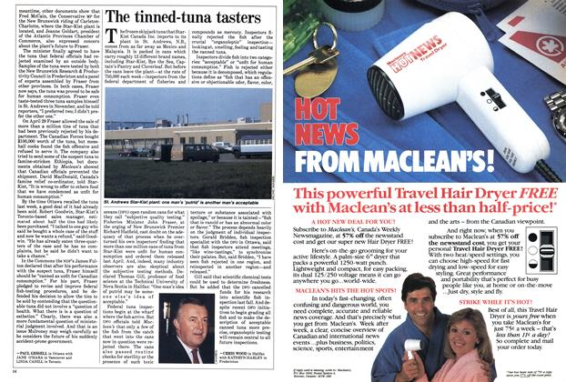 Article Preview: The tinned-tuna tasters, September 1985 | Maclean's