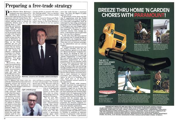Article Preview: Preparing a free-trade strategy, September 1985 | Maclean's