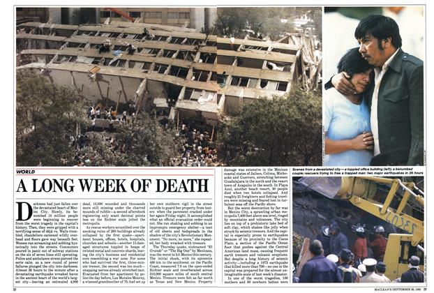 Article Preview: A LONG WEEK OF DEATH, September 1985 | Maclean's