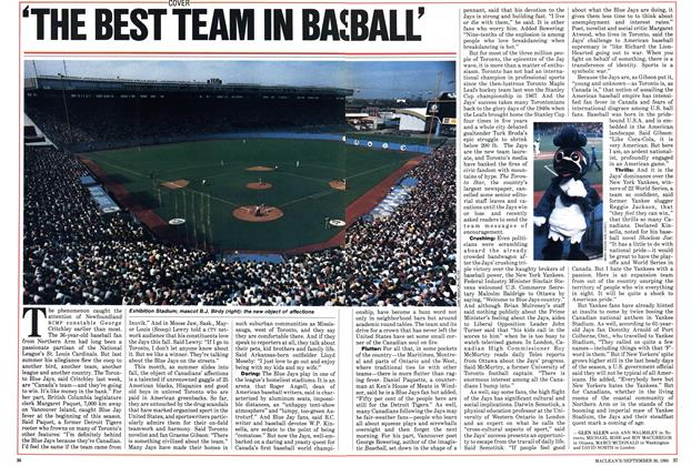 Article Preview: 'THE BEST TEAM IN BASEBALL', September 1985 | Maclean's
