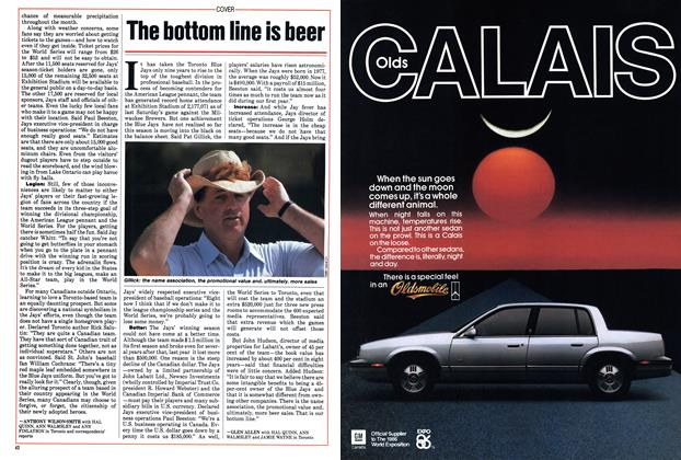 Article Preview: The bottom line is beer, September 1985 | Maclean's