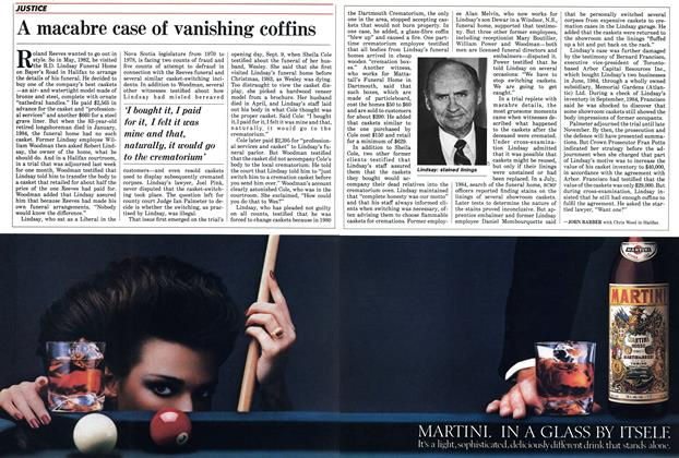 Article Preview: A macabre case of vanishing coffins, September 1985 | Maclean's