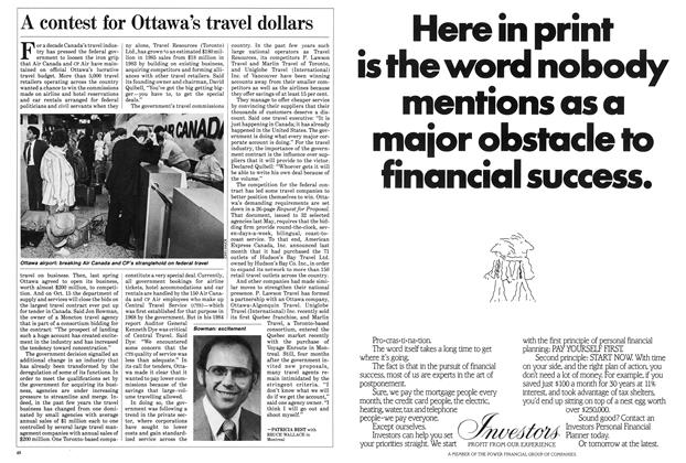 Article Preview: A contest for Ottawa's travel dollars, September 1985 | Maclean's