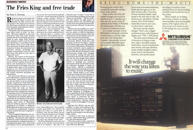 Article Preview: The Fries King and free trade, September 1985 | Maclean's