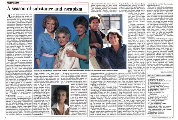 Article Preview: A season of substance and escapism, September 1985 | Maclean's